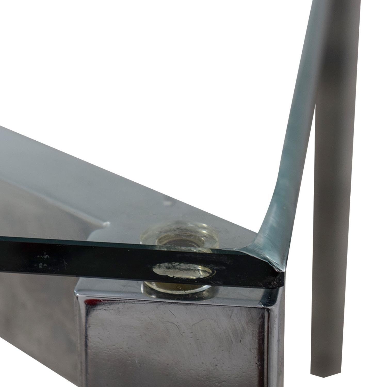 CB2 CB2 Glass and Chrome Office Desk nj