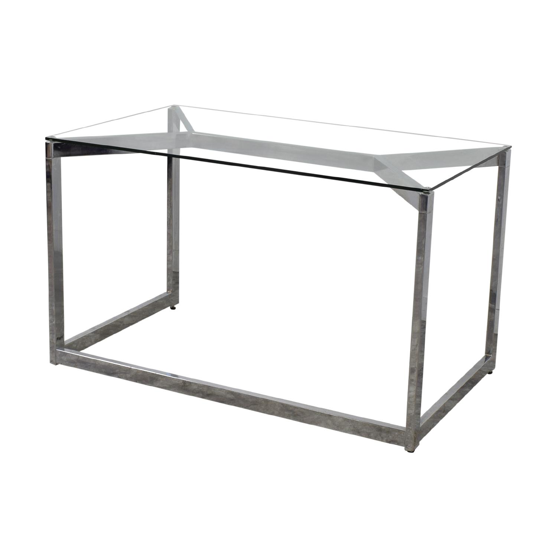 buy CB2 CB2 Glass and Chrome Office Desk online