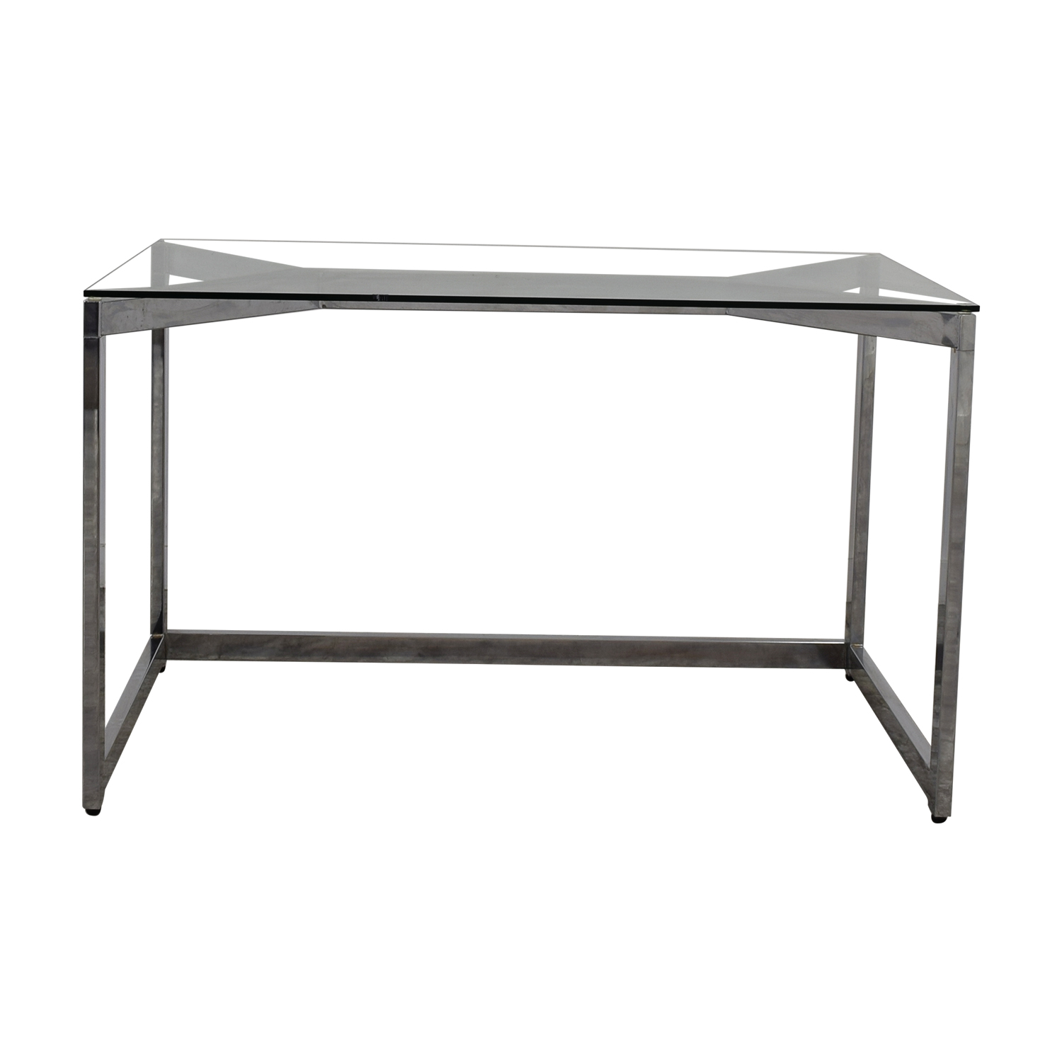 CB2 Glass and Chrome Office Desk / Home Office Desks