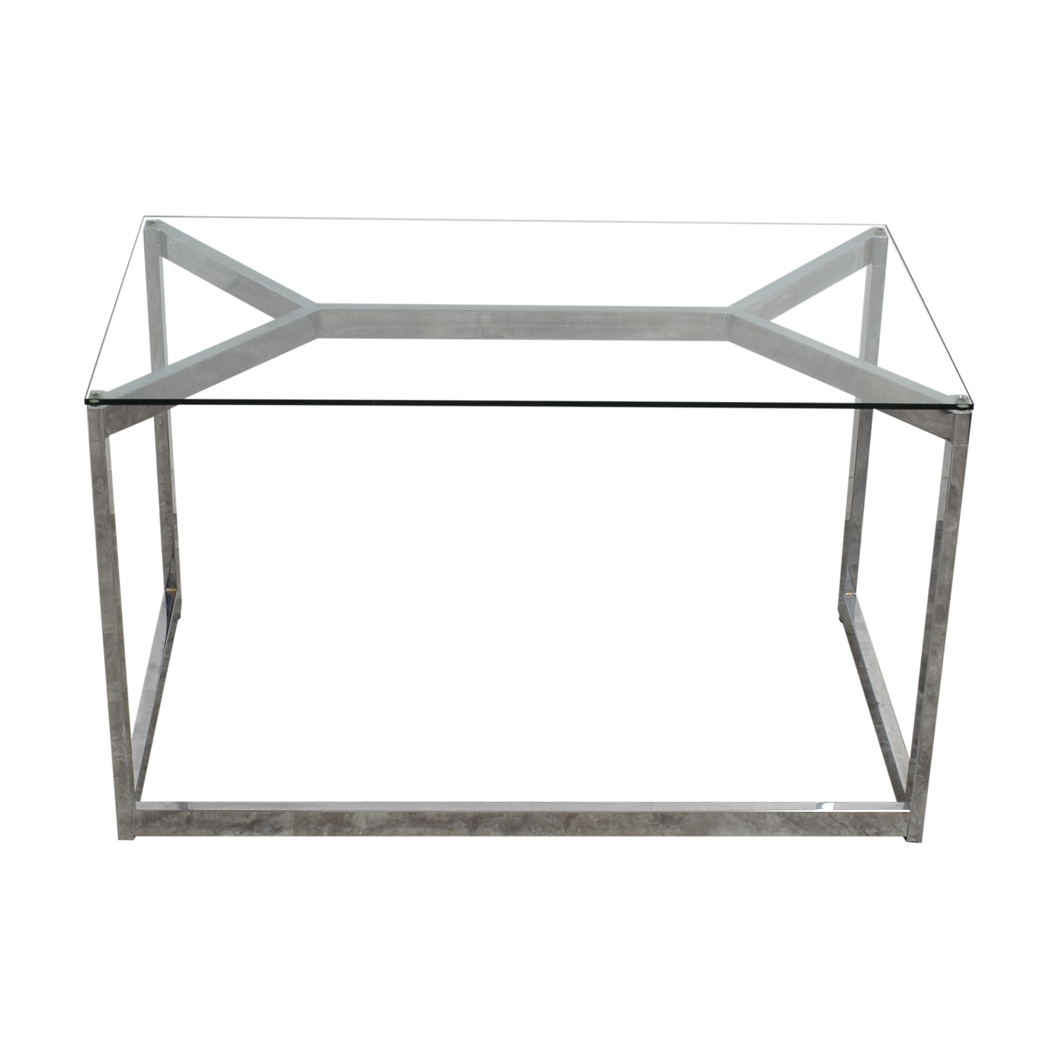 CB2 CB2 Glass and Chrome Office Desk used