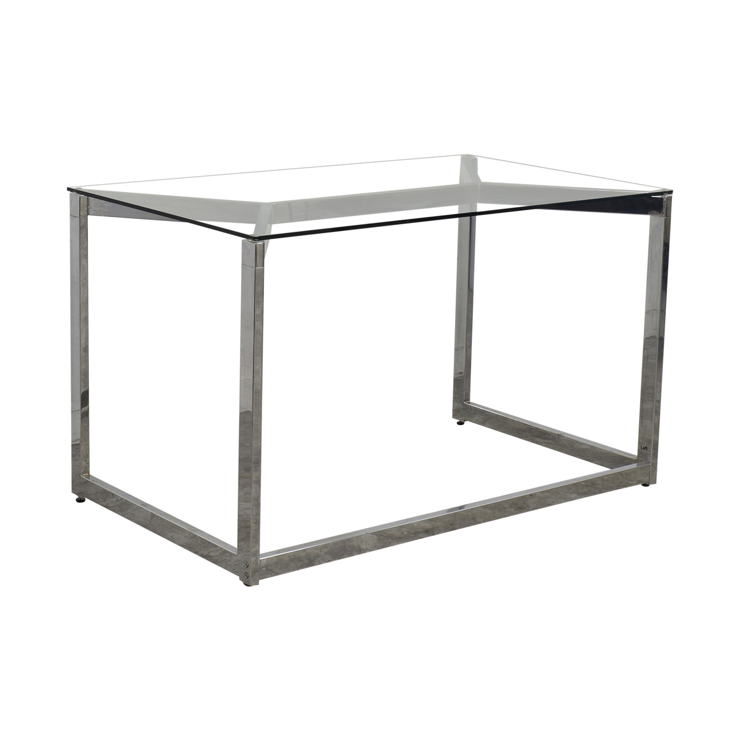 buy CB2 Glass and Chrome Office Desk CB2 Tables