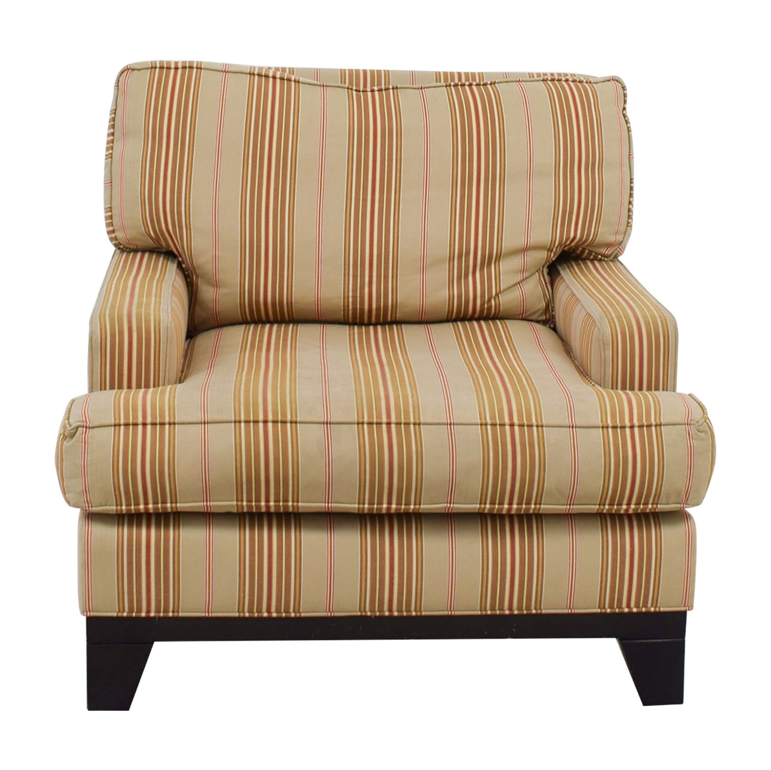 Ethan Allen Ethan Allen Beige Gold and Red Striped Arm Chair dimensions