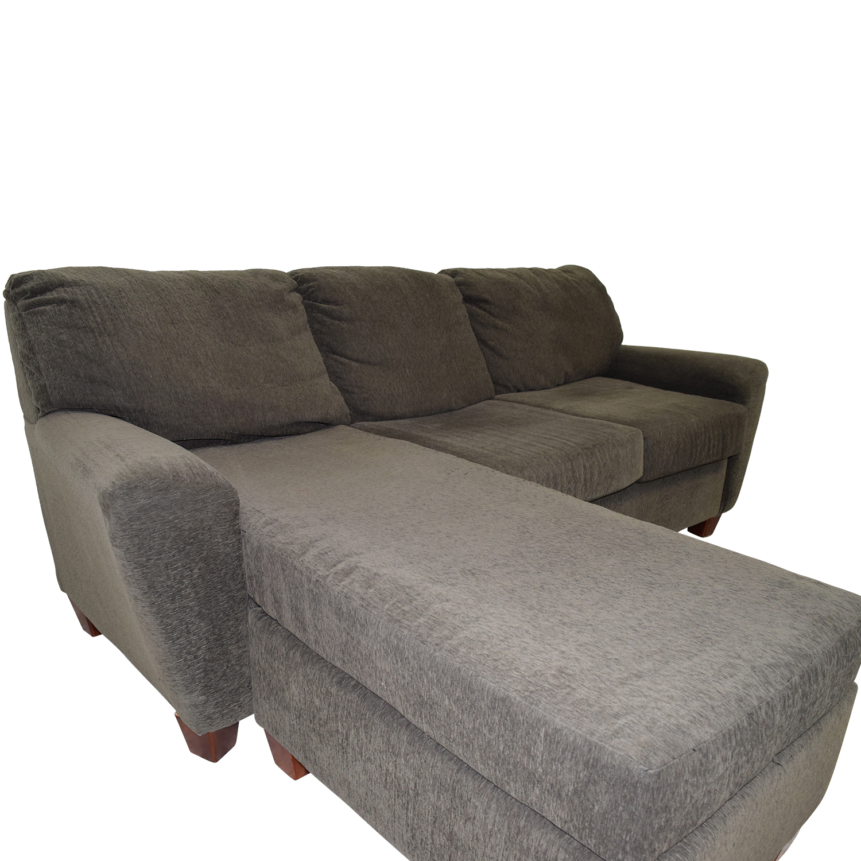 Corner Sofa Second Hand Bristol: West Elm West Elm L-Shape Grey Sofa / Sofas