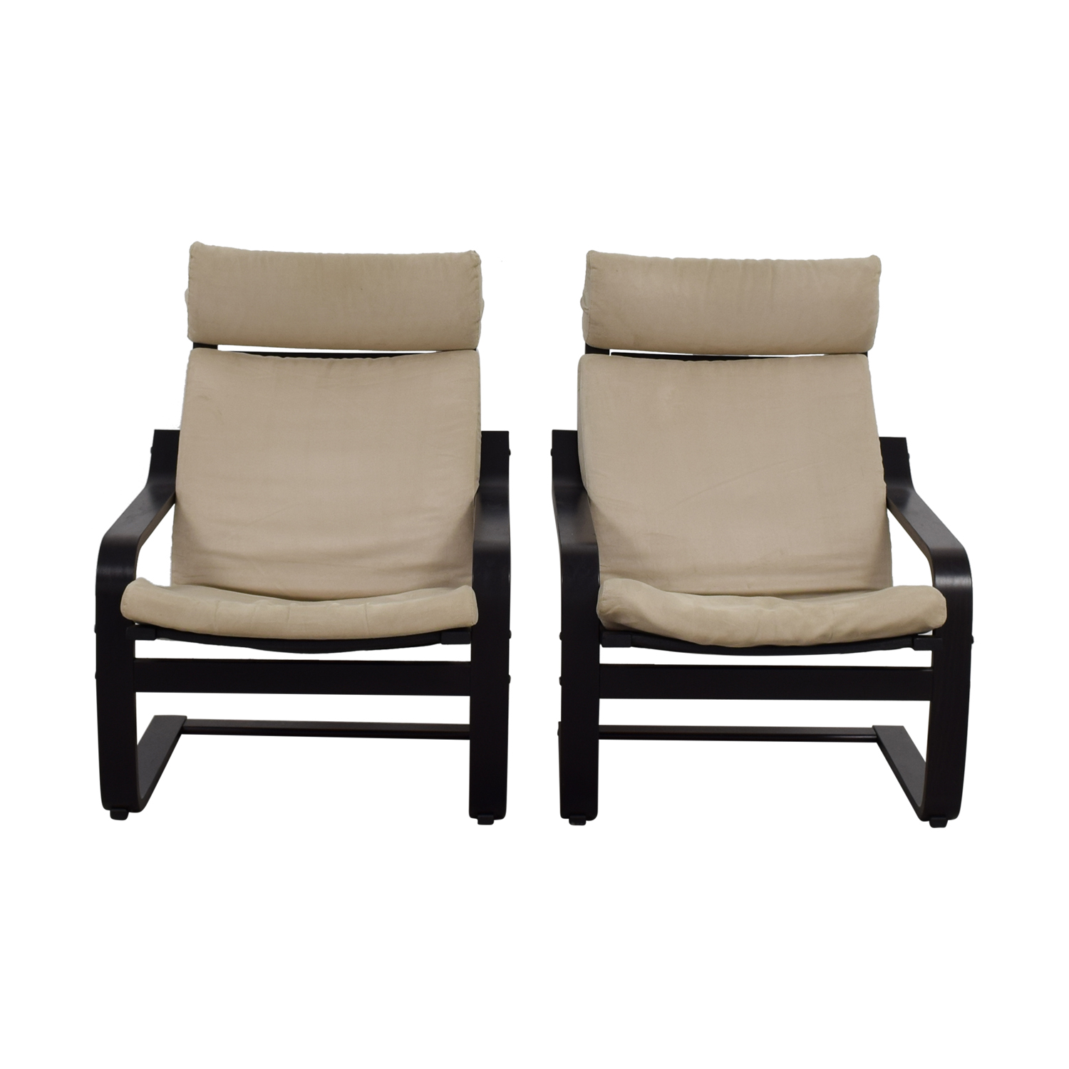 shop IKEA Beige and Black Chairs IKEA Accent Chairs