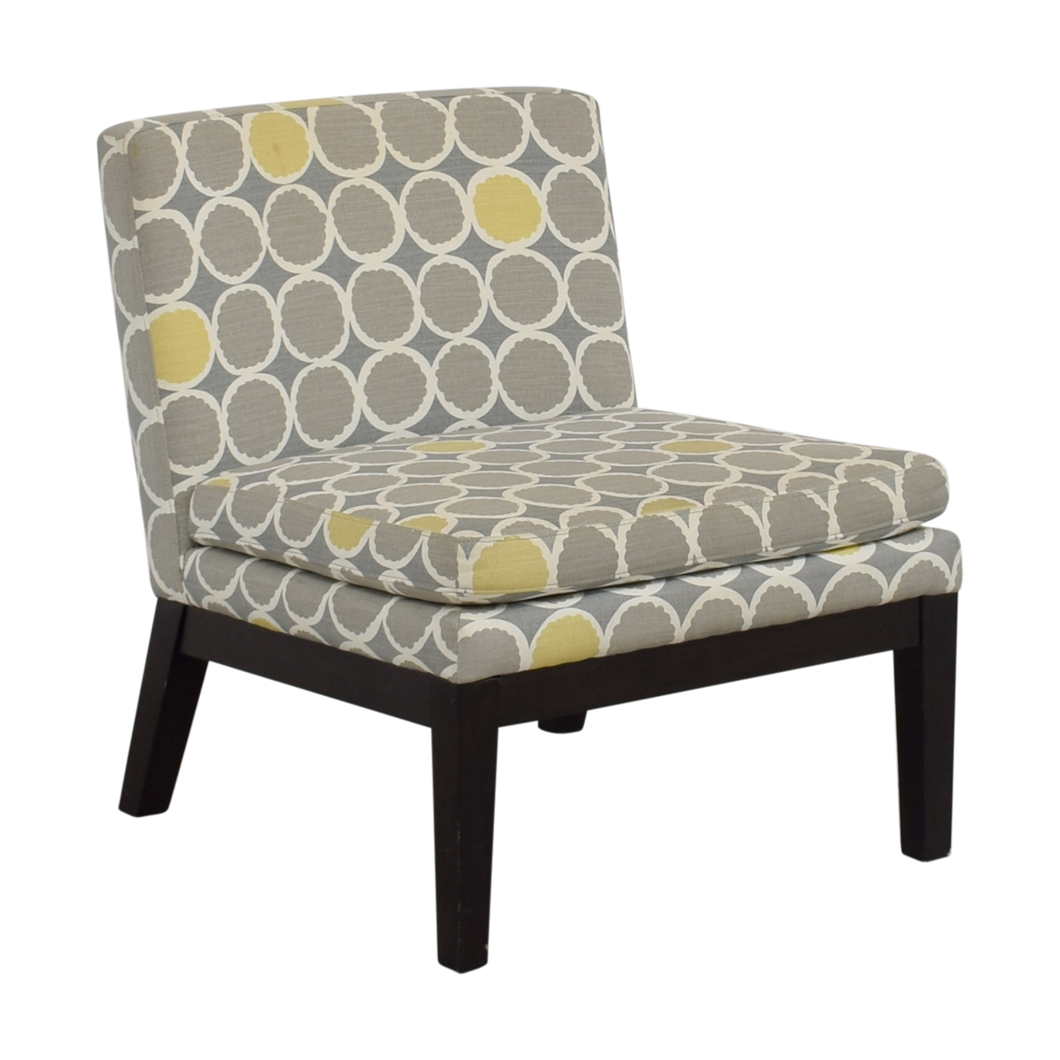 ... West Elm West Elm Grey Yellow And White Accent Chair Discount ...