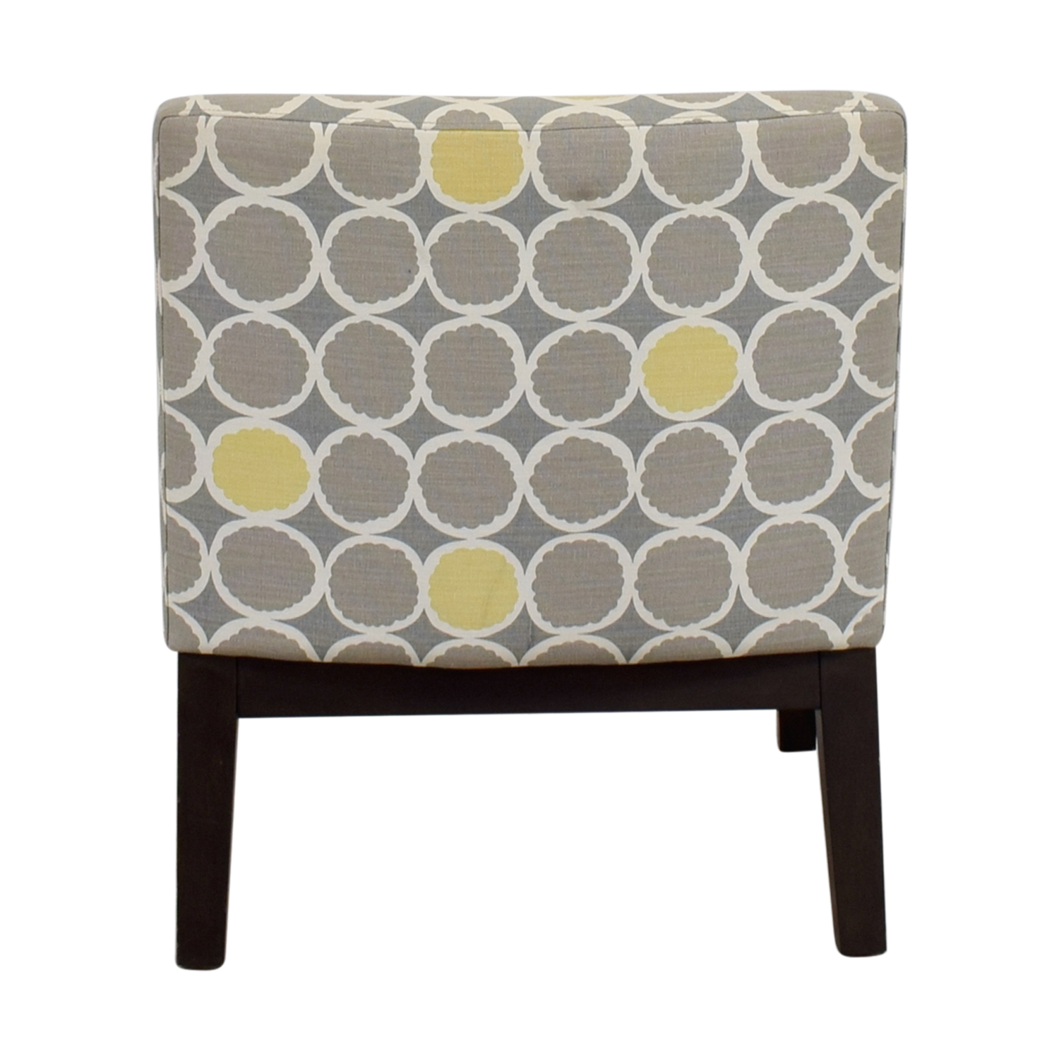 West Elm West Elm Grey Yellow and White Accent Chair for sale