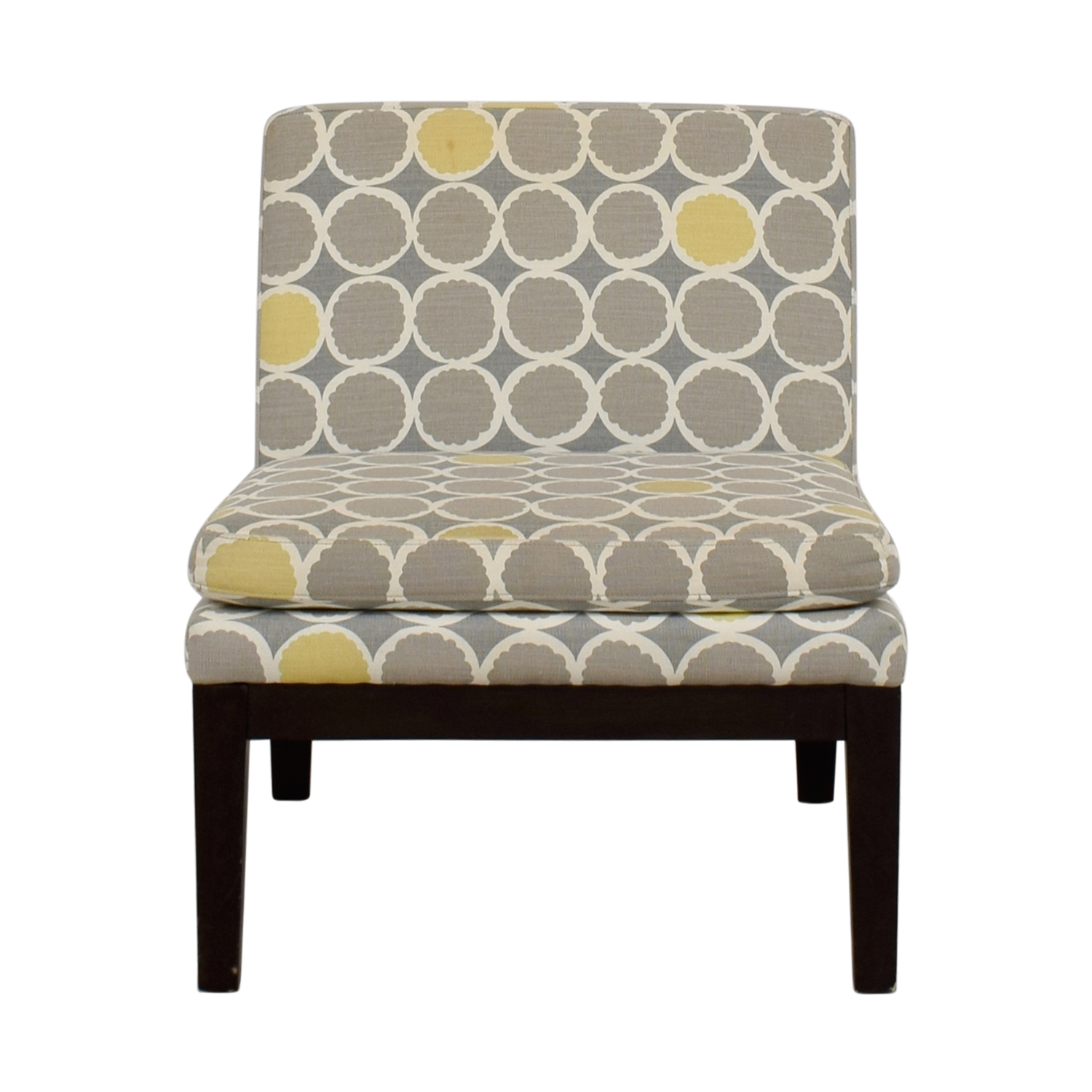 West Elm West Elm Grey Yellow and White Accent Chair coupon