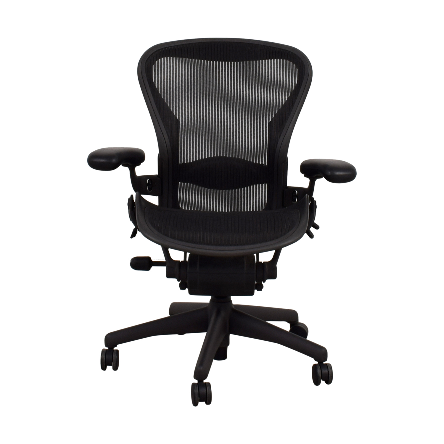 d1bbc7c929f 74% OFF - Herman Miller Herman Miller Aeron Black Chair   Chairs