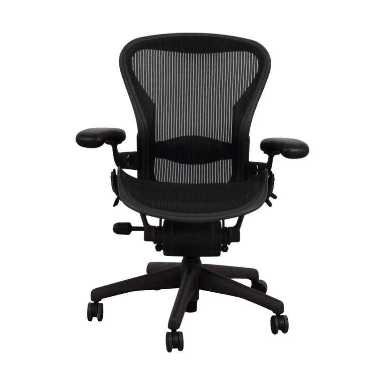 shop Herman Miller Aeron Black Chair Herman Miller