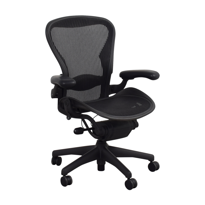 Herman Miller Herman Miller Aeron Black Chair dimensions