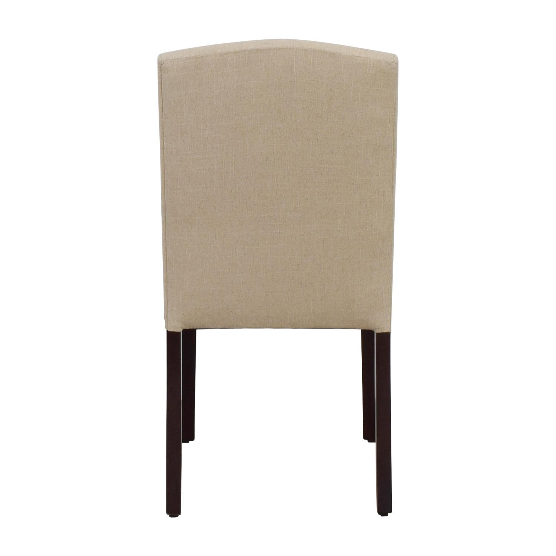 World Market World Market Abbie Beige Linen Nailhead Dining Chair