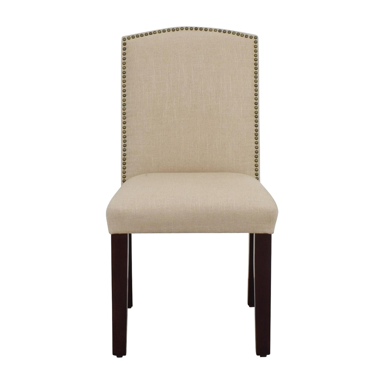 World Market Abbie Beige Linen Nailhead Dining Chair World Market