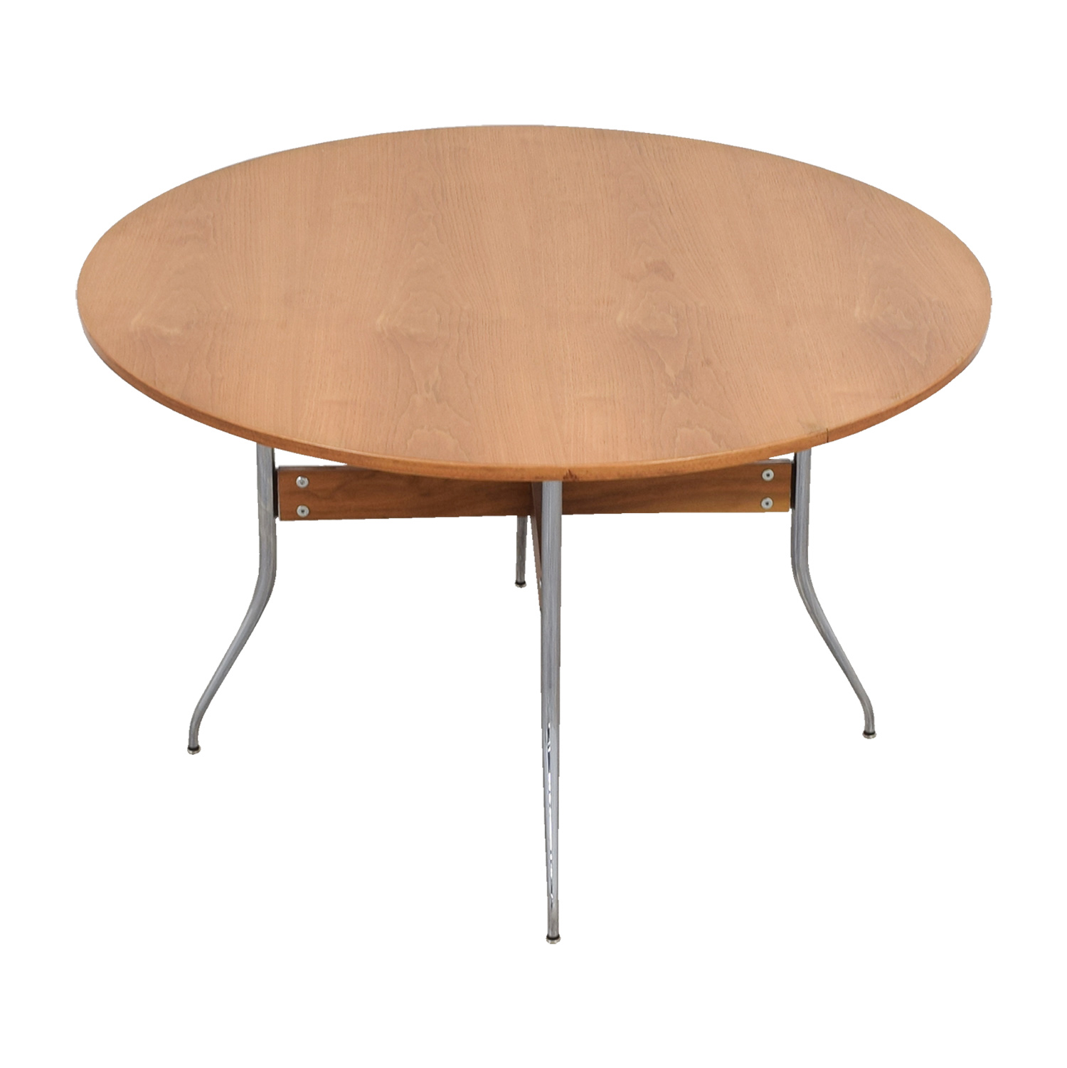 shop Herman Miller Nelson Round Swag Leg Dining Table Herman Miller