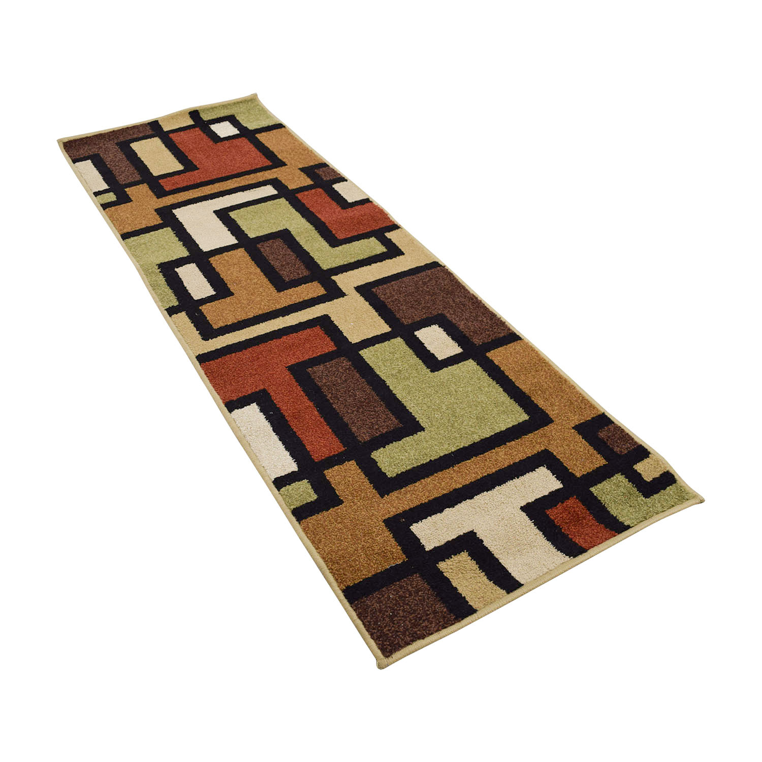 Multi-Colored Runner Rug / Sofas