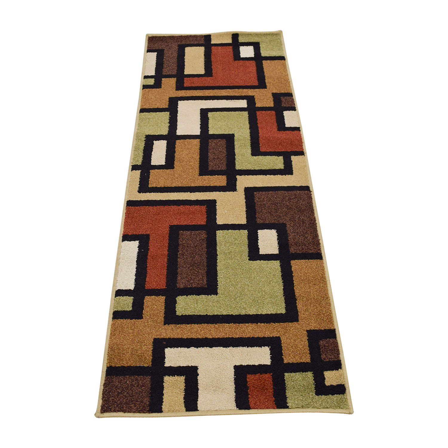 Multi-Colored Runner Rug used
