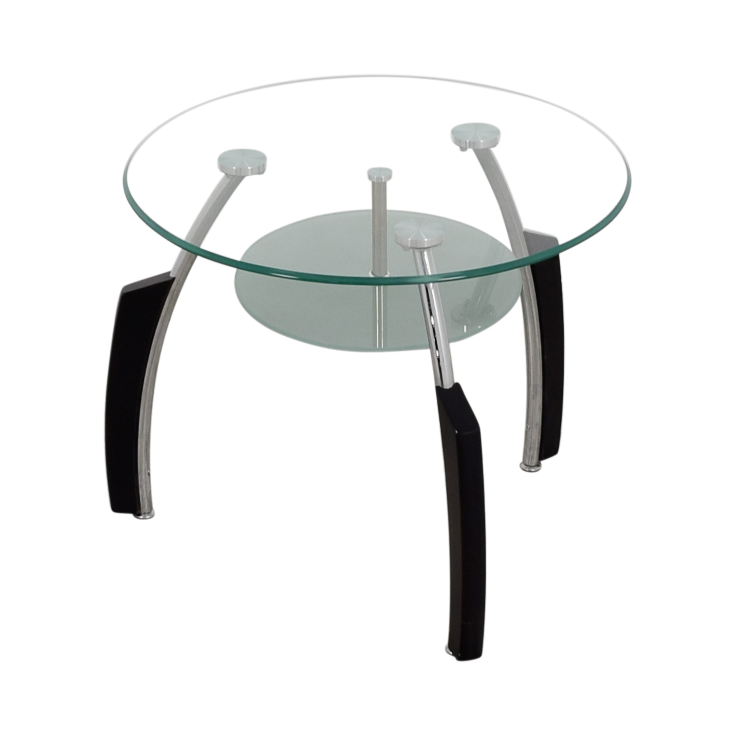 shop Round Glass End Table