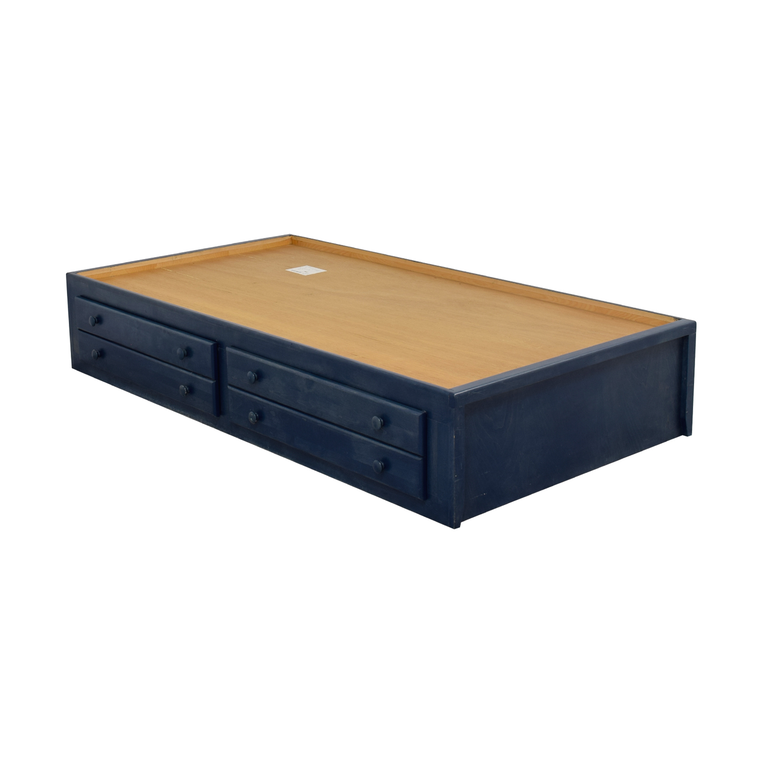 77 Off Pottery Barn Pottery Barn Slate Blue Twin Captain S Bed Frame With Storage Drawers Beds