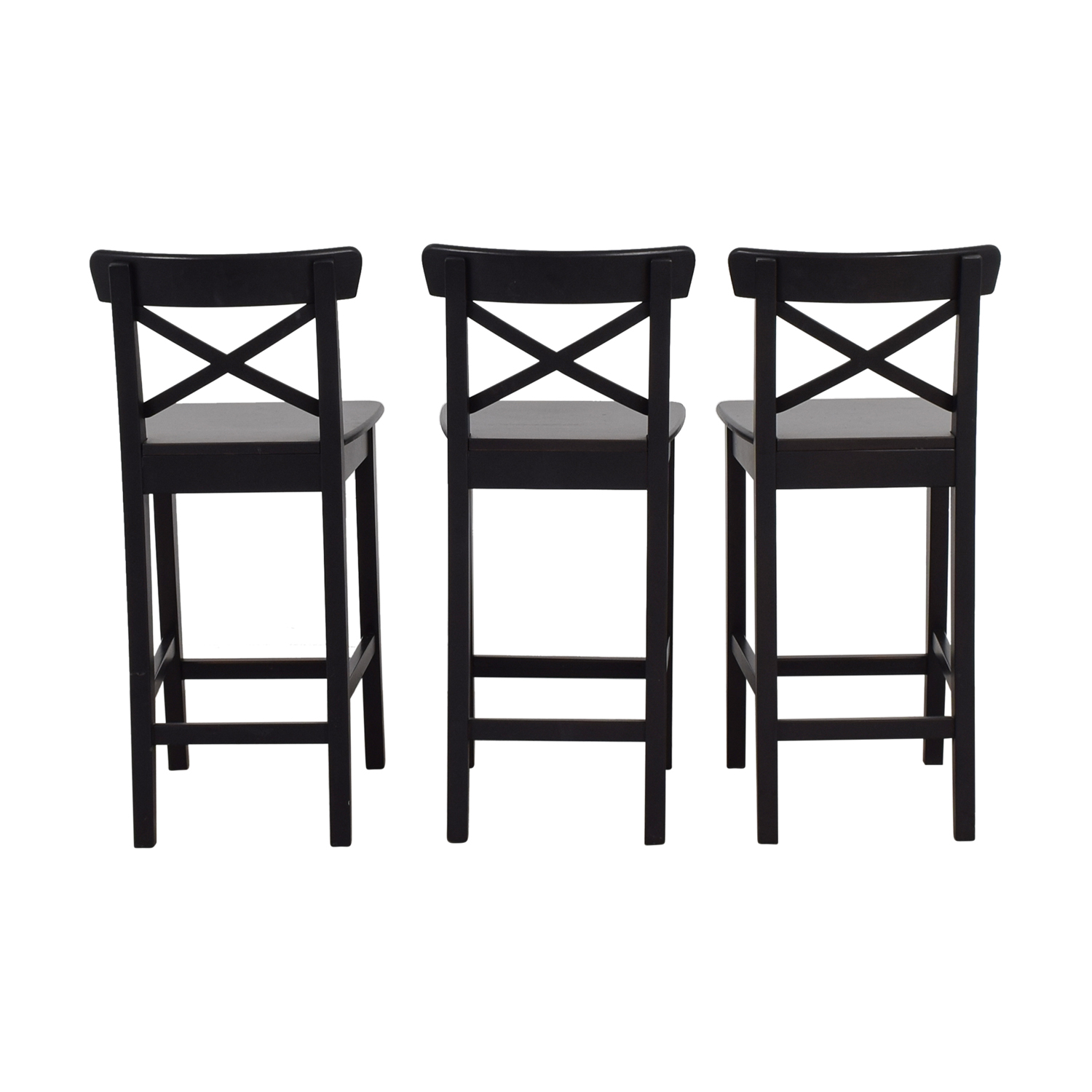 Fabulous 82 Off Ikea Ikea Black Bar Stools Chairs Unemploymentrelief Wooden Chair Designs For Living Room Unemploymentrelieforg