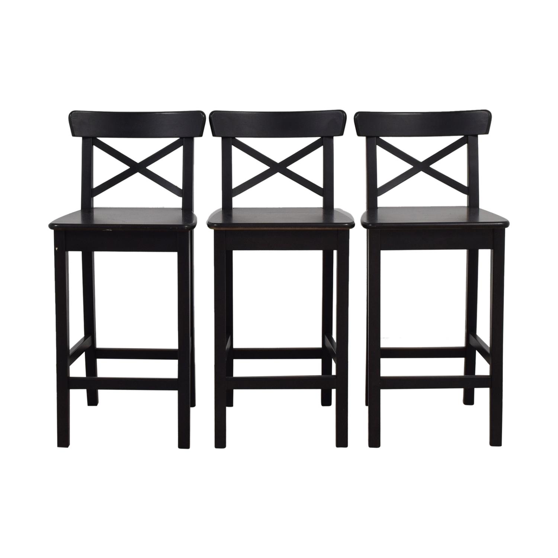 IKEA IKEA Black Bar Stools Used ...