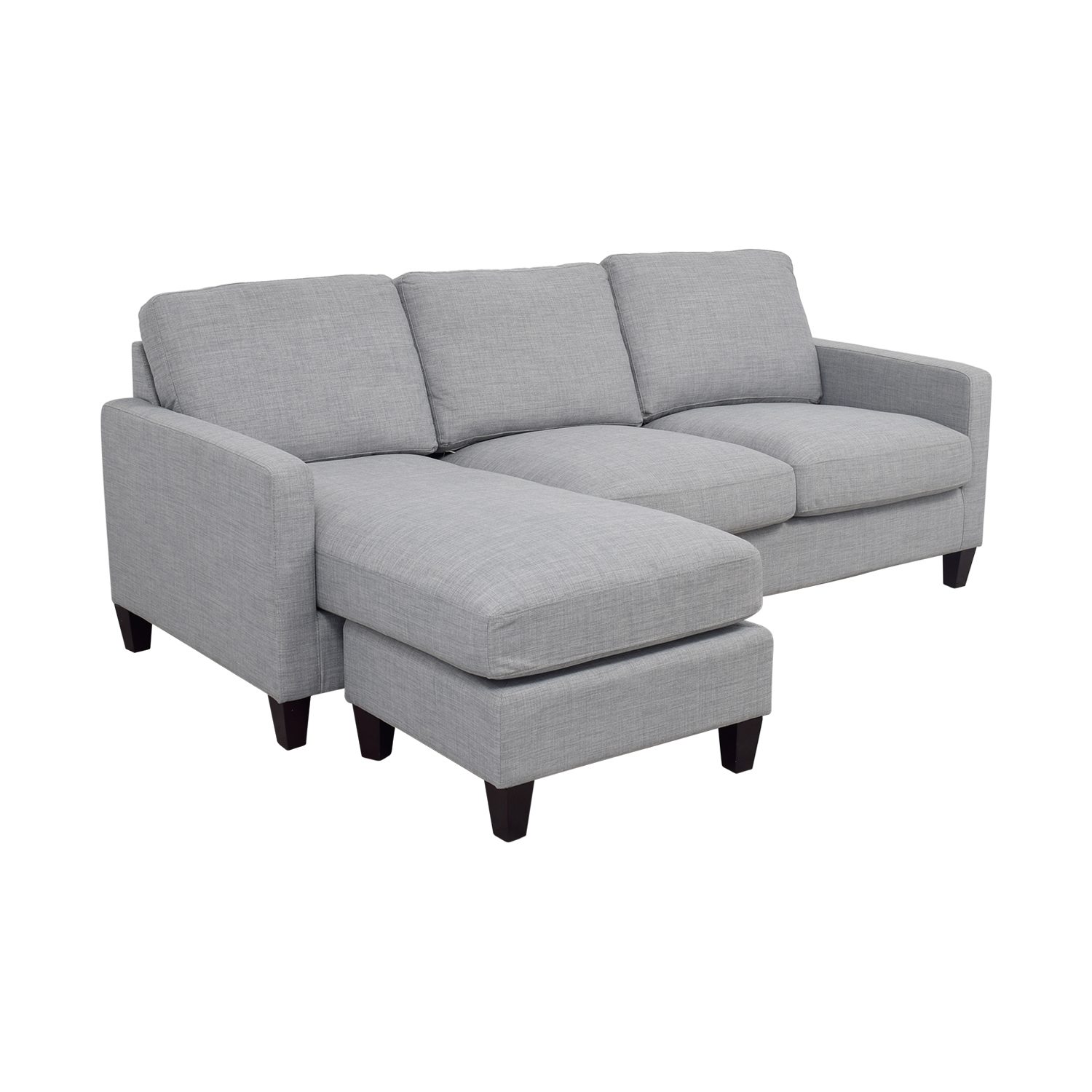 41 Off World Market Light Grey Chaise Sectional Sofas