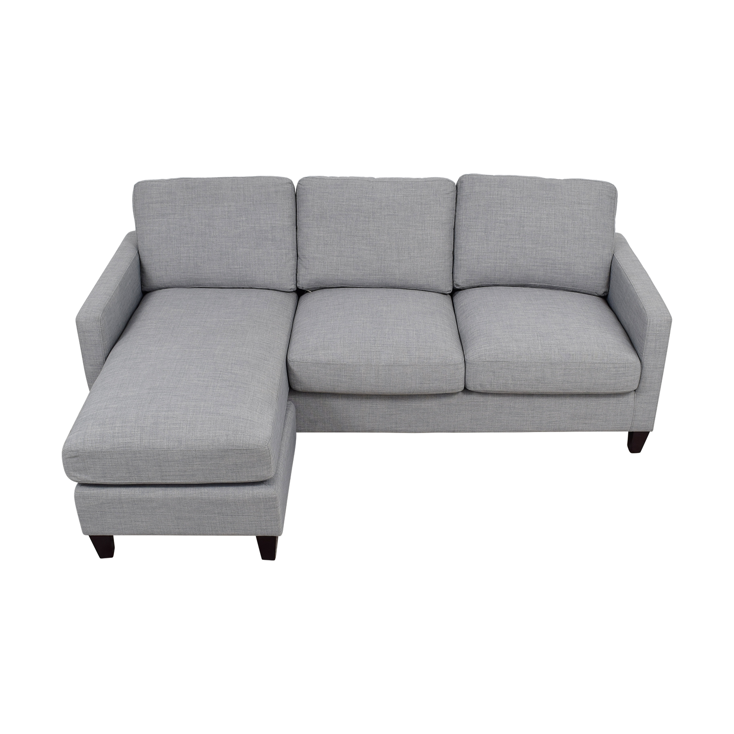 ... World Market Light Grey Chaise Sectional Sale ...