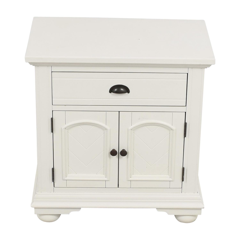 buy Bobs Furniture White Single-Drawer Nightstand Bobs Furniture