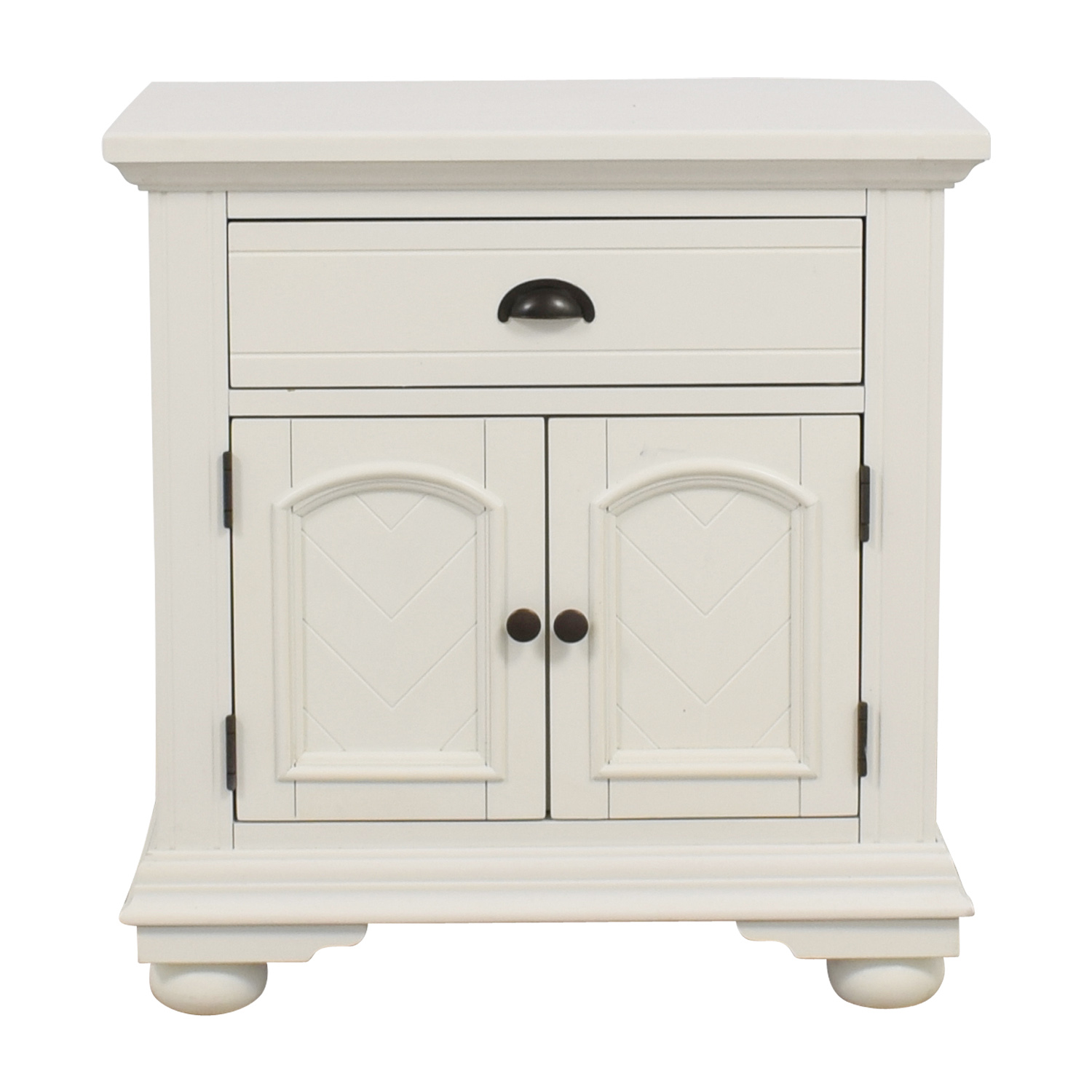 Bobs Furniture Bobs Furniture White Single-Drawer Nightstand white