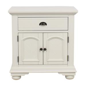 buy Bob's Discount Furniture Bob's Furniture White Single-Drawer Nightstand online