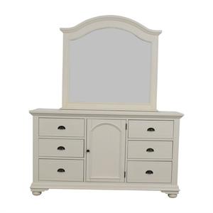 Bob's Discount Furniture Bob's Furniture Vanilla Six-Drawer Dresser with Mirror second hand