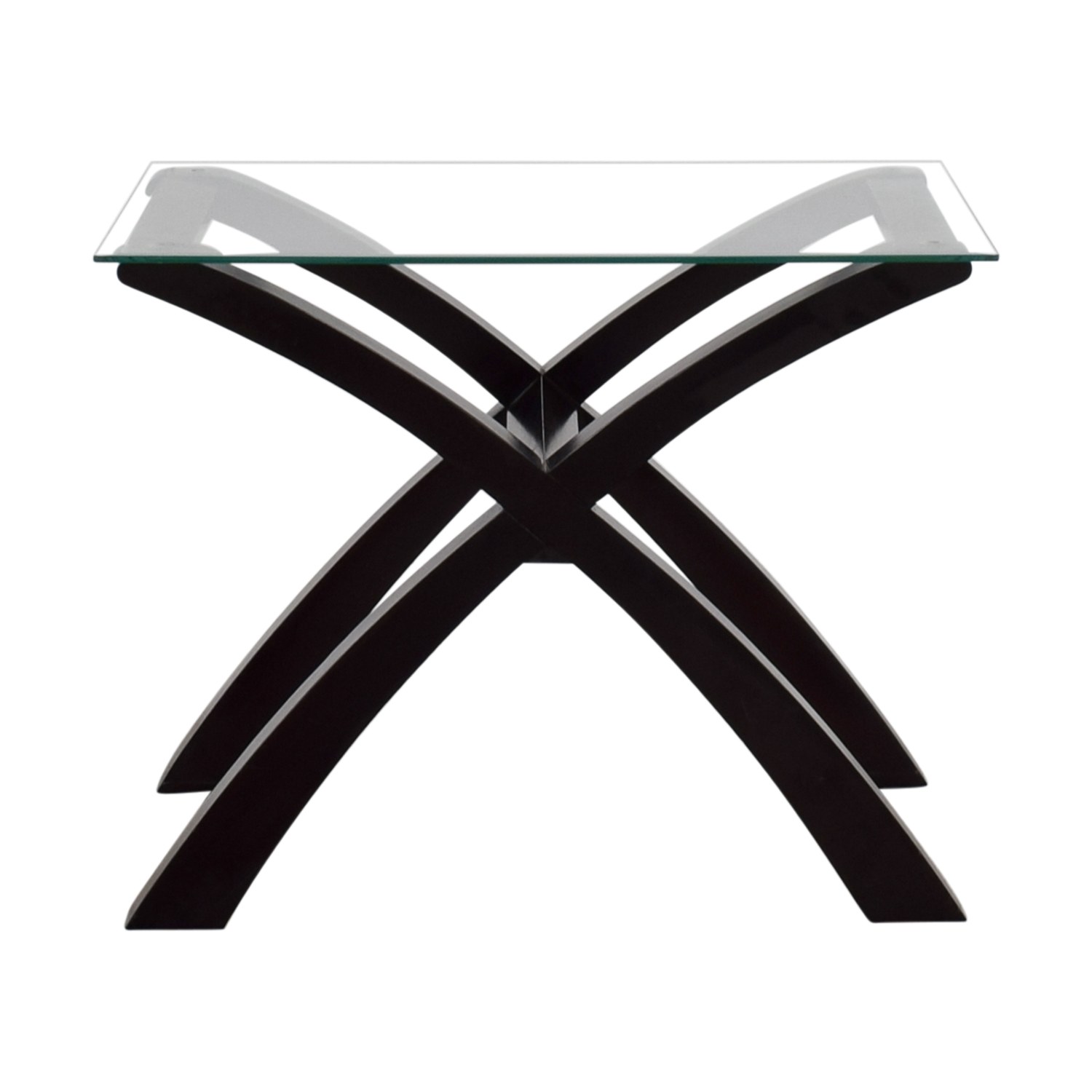 buy Glass and Wood Side Table online