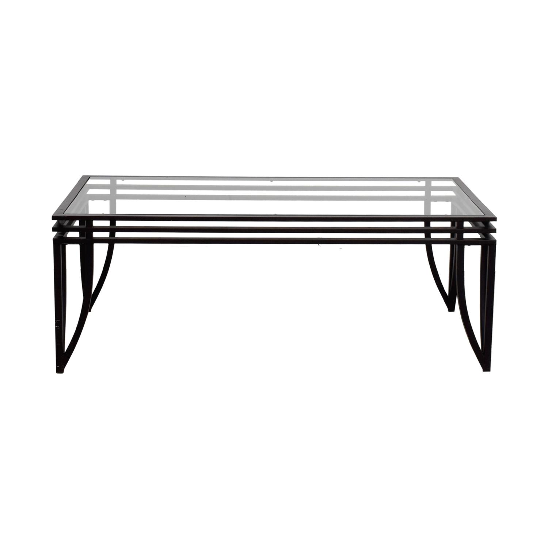 buy Glass and Metal Coffee Table  Sofas