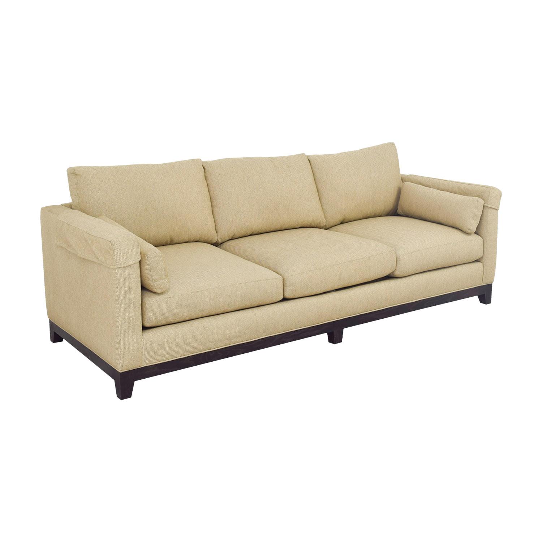 Lee Industries Tan Three Cushion Sofa Sofas
