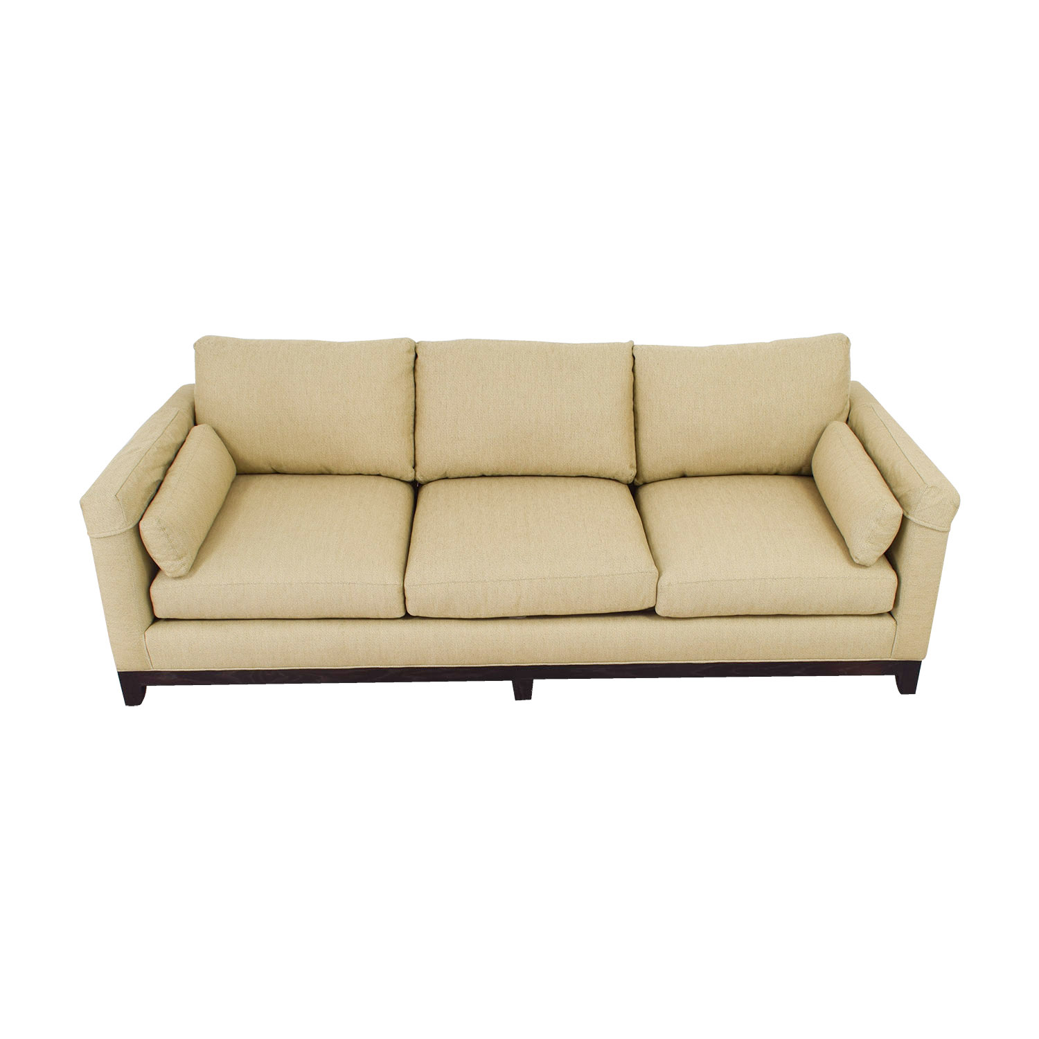Lee Industries Lee Industries Tan Three-Cushion Sofa nyc
