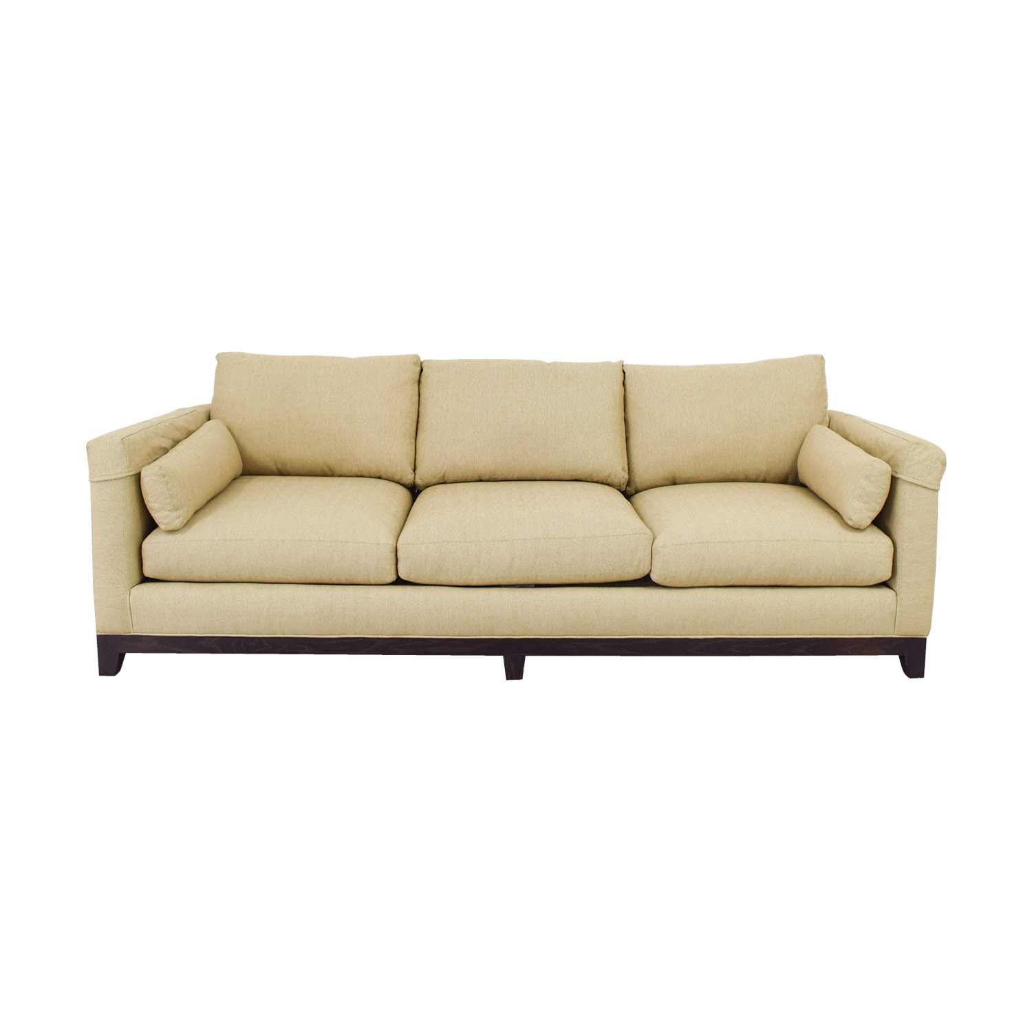 Lee Industries Tan Three-Cushion Sofa Lee Industries