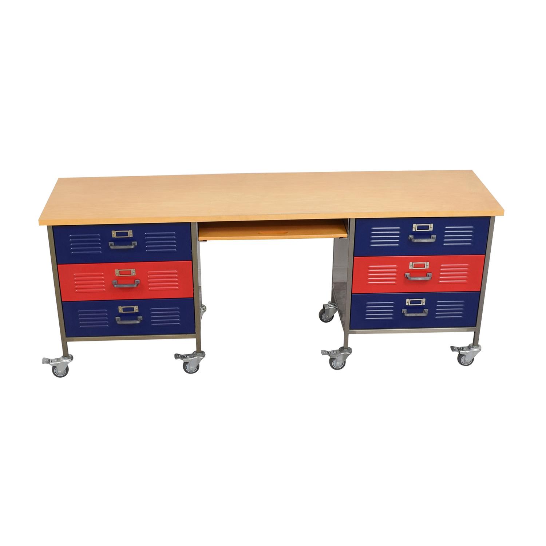 pottery barn locker furniture. Pottery Barn Teen Locker Desk On Castors Home Office Desks Furniture R