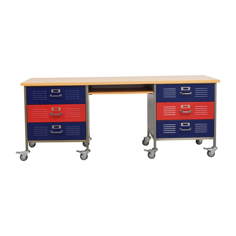 Pottery Barn Locker Desk On Castors Online