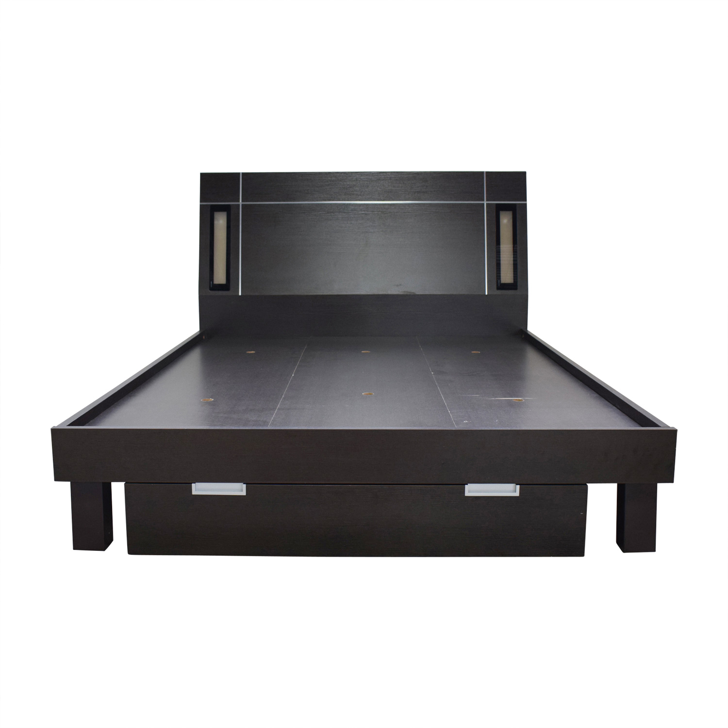 Platform Queen Bed Frame with Lighting and Storage for sale
