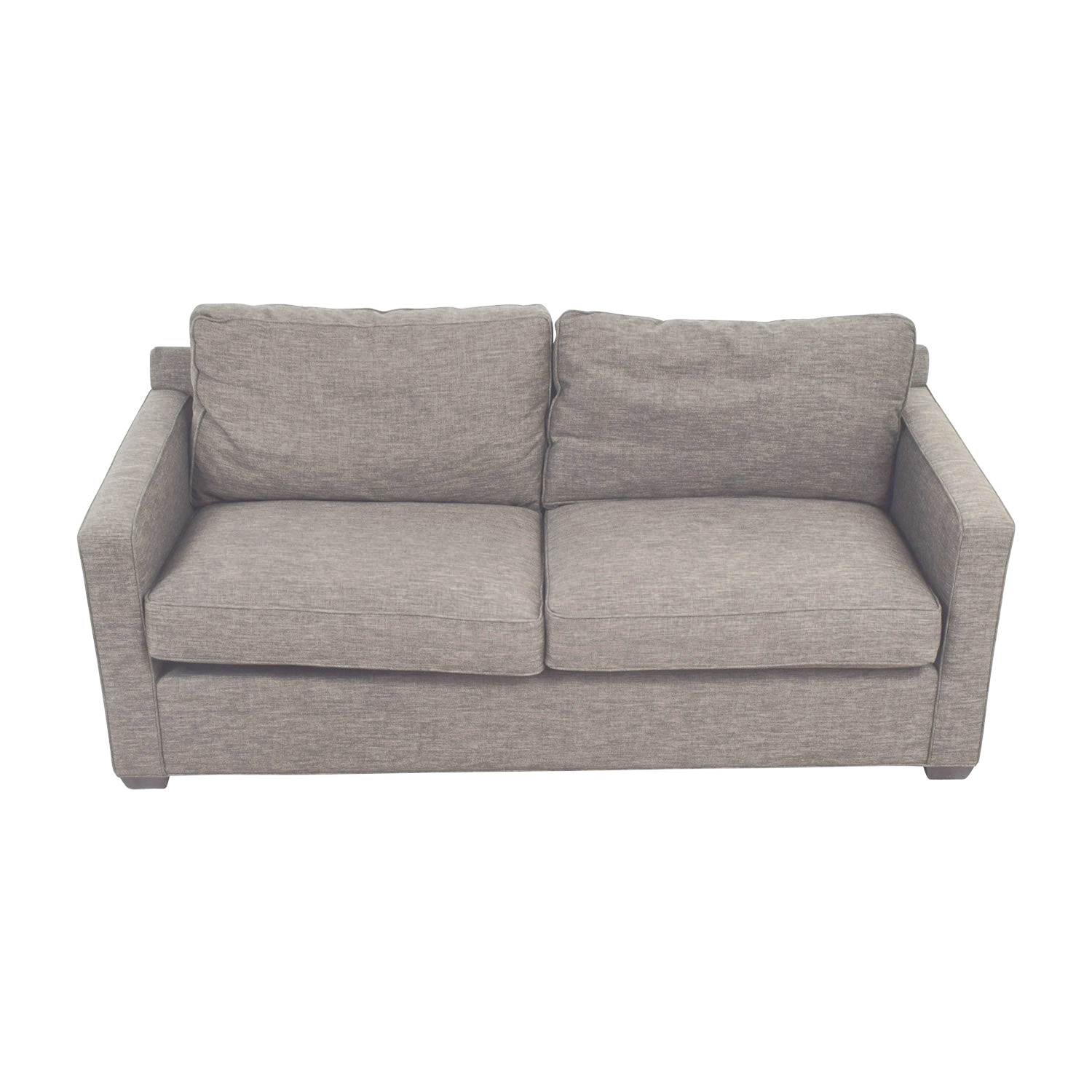 Crate & Barrel Davis Grey Two-Cushion Sofa / Classic Sofas