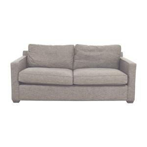 Crate & Barrel Crate & Barrel Davis Grey Two-Cushion Sofa second hand