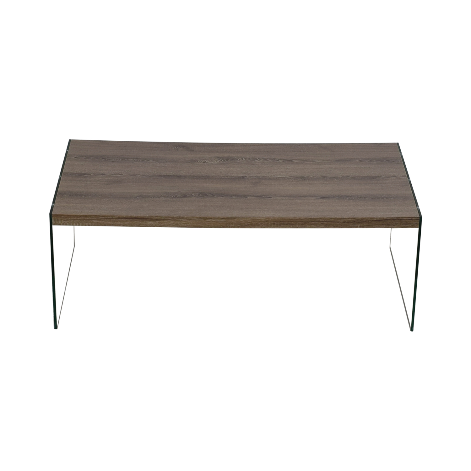 Monarch Specialties Monarch Specialties Grey Rustic Wood and Glass Coffee Table on sale