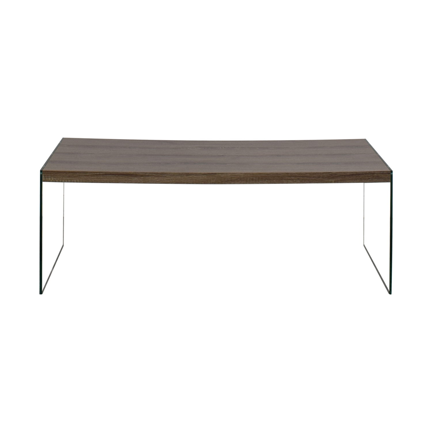 Monarch Specialties Monarch Specialties Grey Rustic Wood and Glass Coffee Table second hand