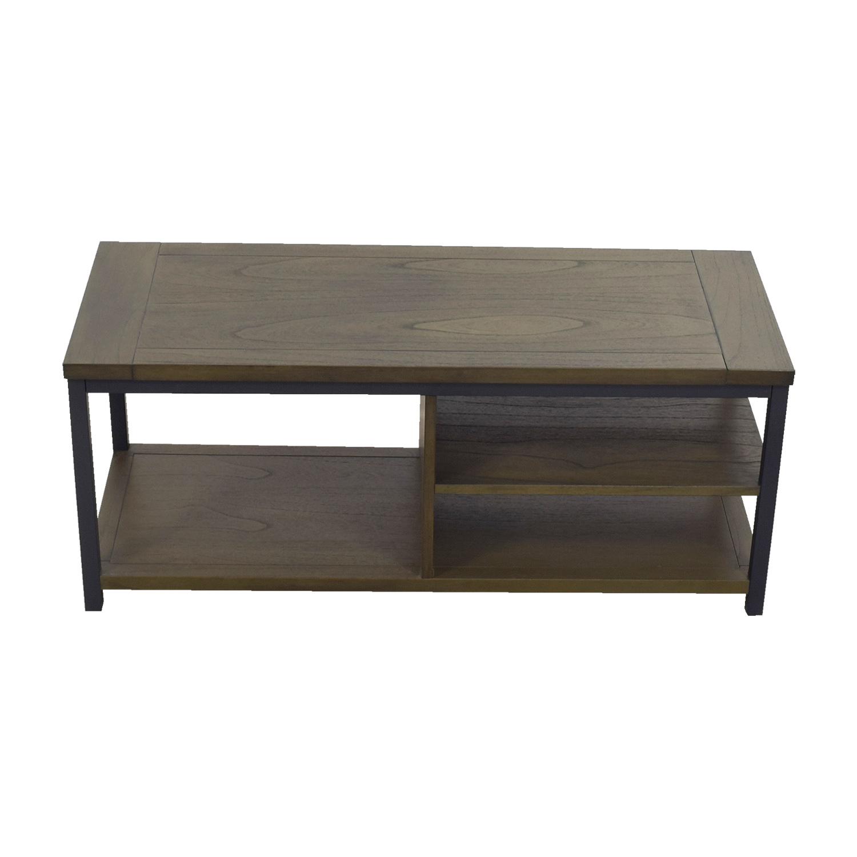 shop Crate & Barrel Crate & Barrel Green Tea and Cobalt Blue Media Console online