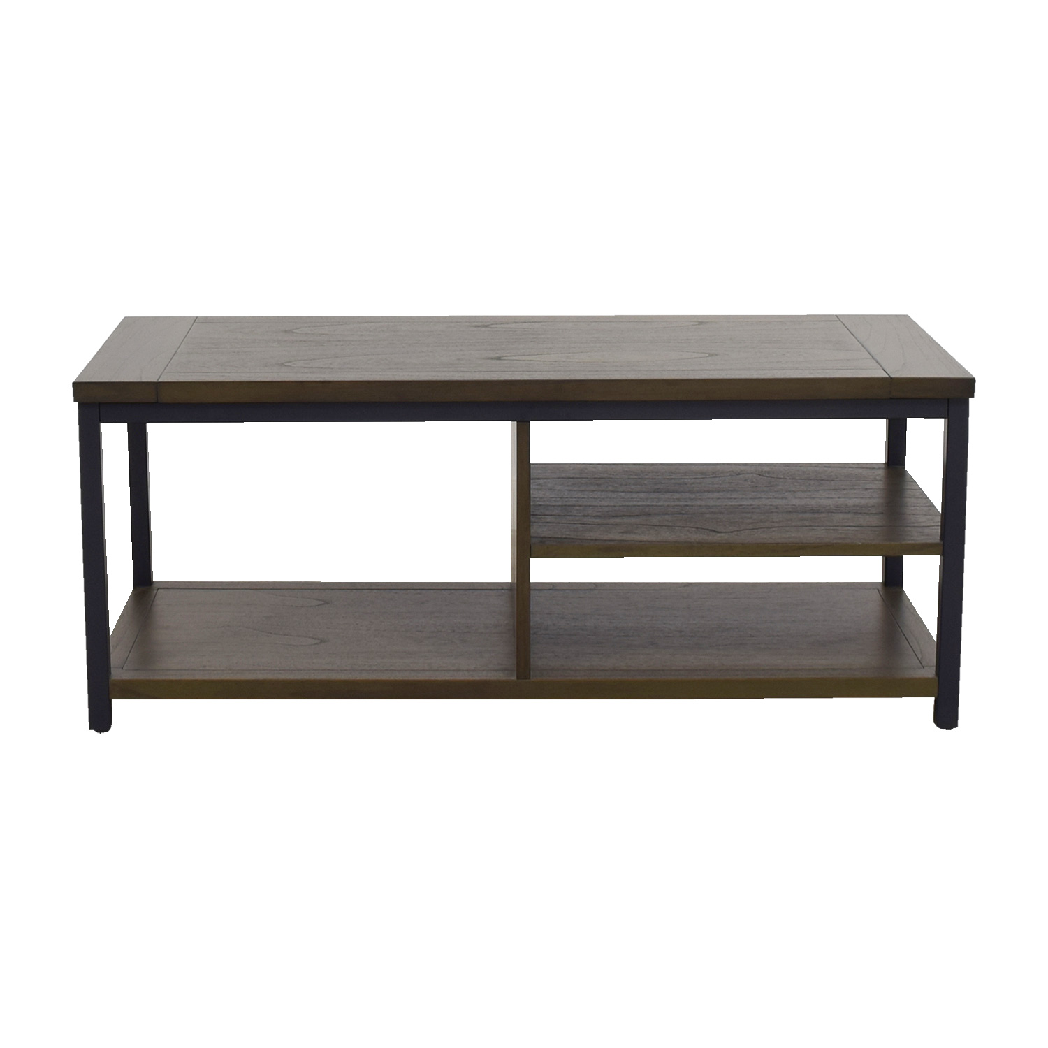 Crate & Barrel Crate & Barrel Green Tea and Cobalt Blue Media Console for sale