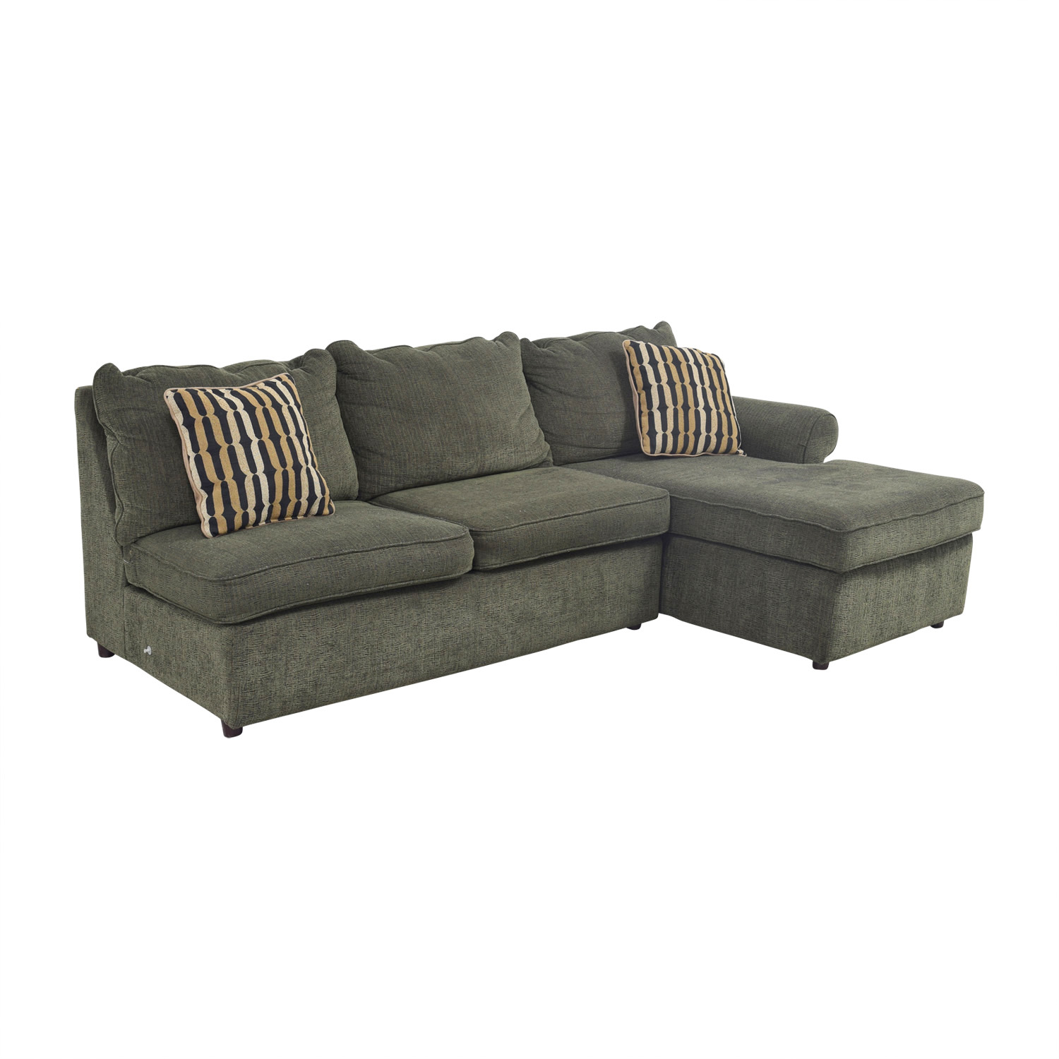 Outstanding 78 Off La Z Boy La Z Boy Forest Green L Shaped Sectional Couch Sofas Bralicious Painted Fabric Chair Ideas Braliciousco