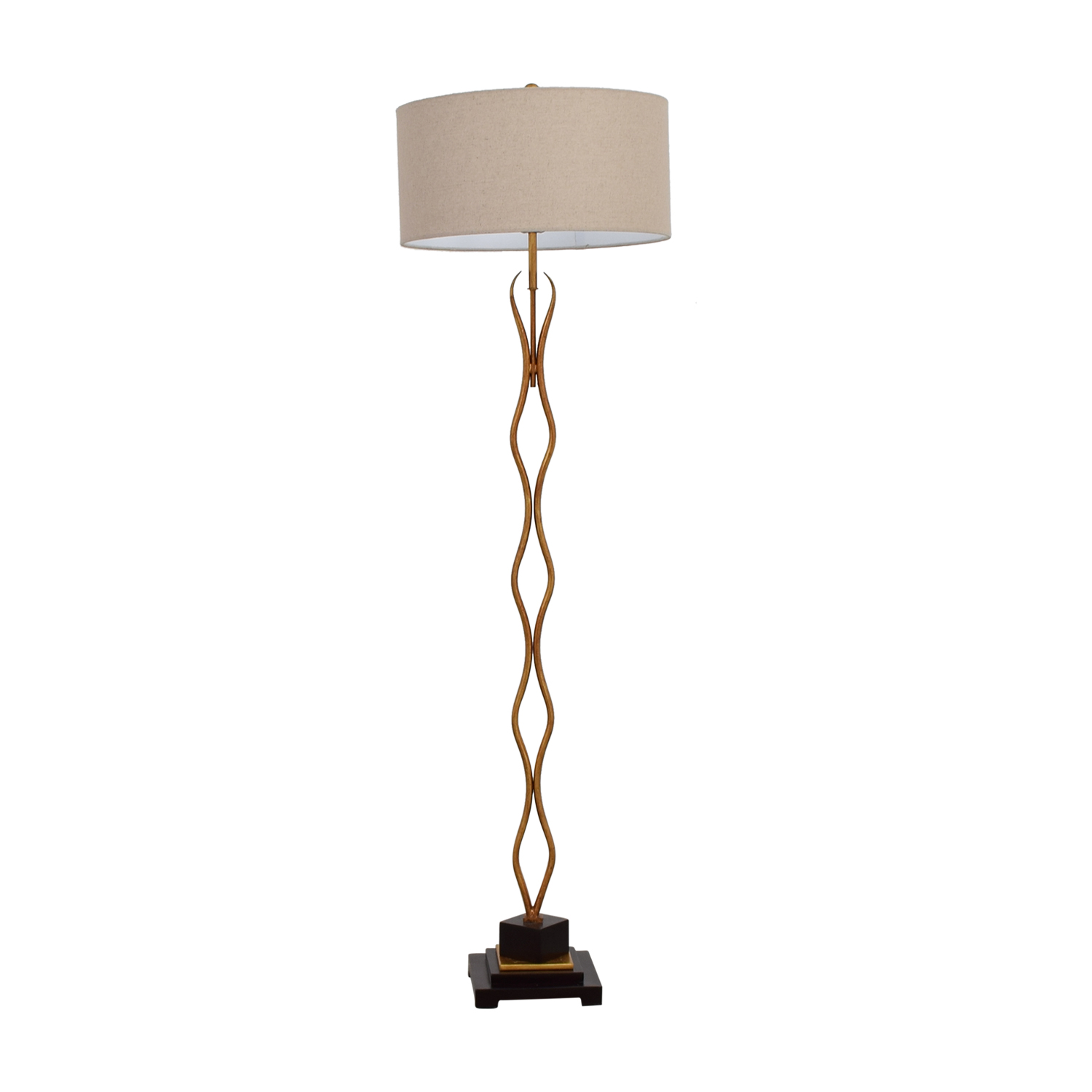 Wayfair Wayfair Metal Wavy Gold Floor Lamp on sale