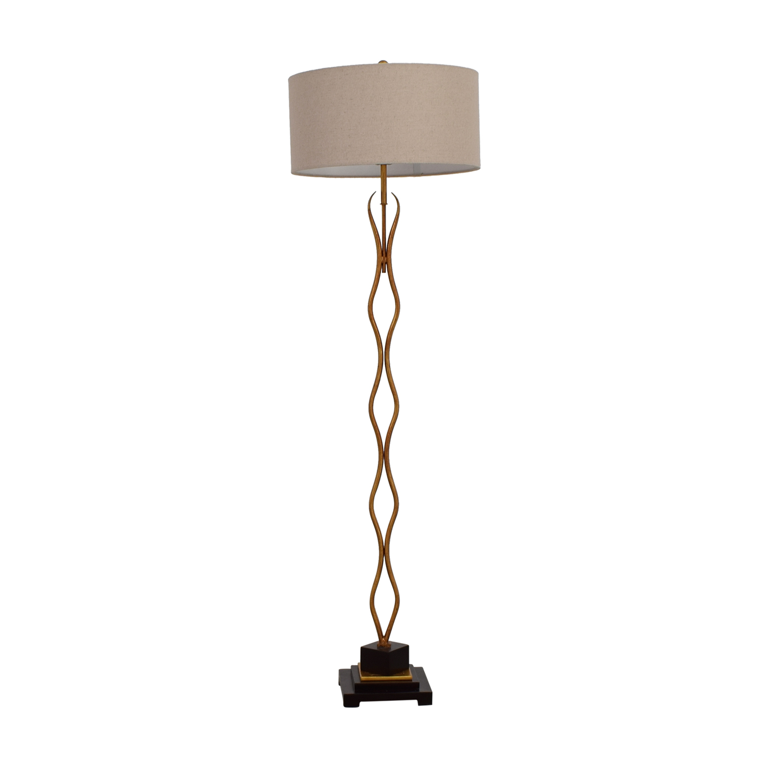 Wayfair Metal Wavy Gold Floor Lamp sale