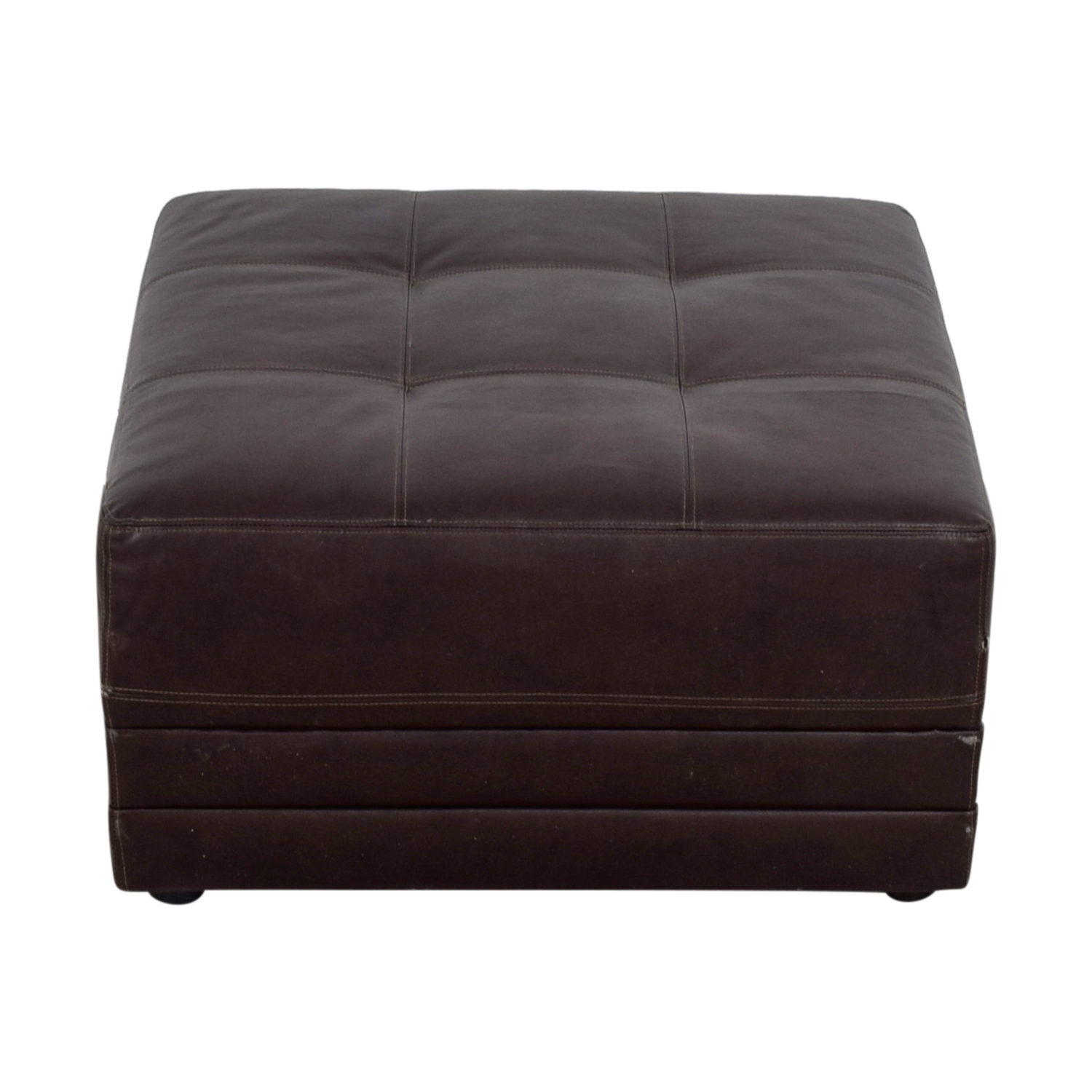 Super 90 Off Albany Industries Albany Industries Inc Faux Leather Brown Square Ottoman Chairs Camellatalisay Diy Chair Ideas Camellatalisaycom