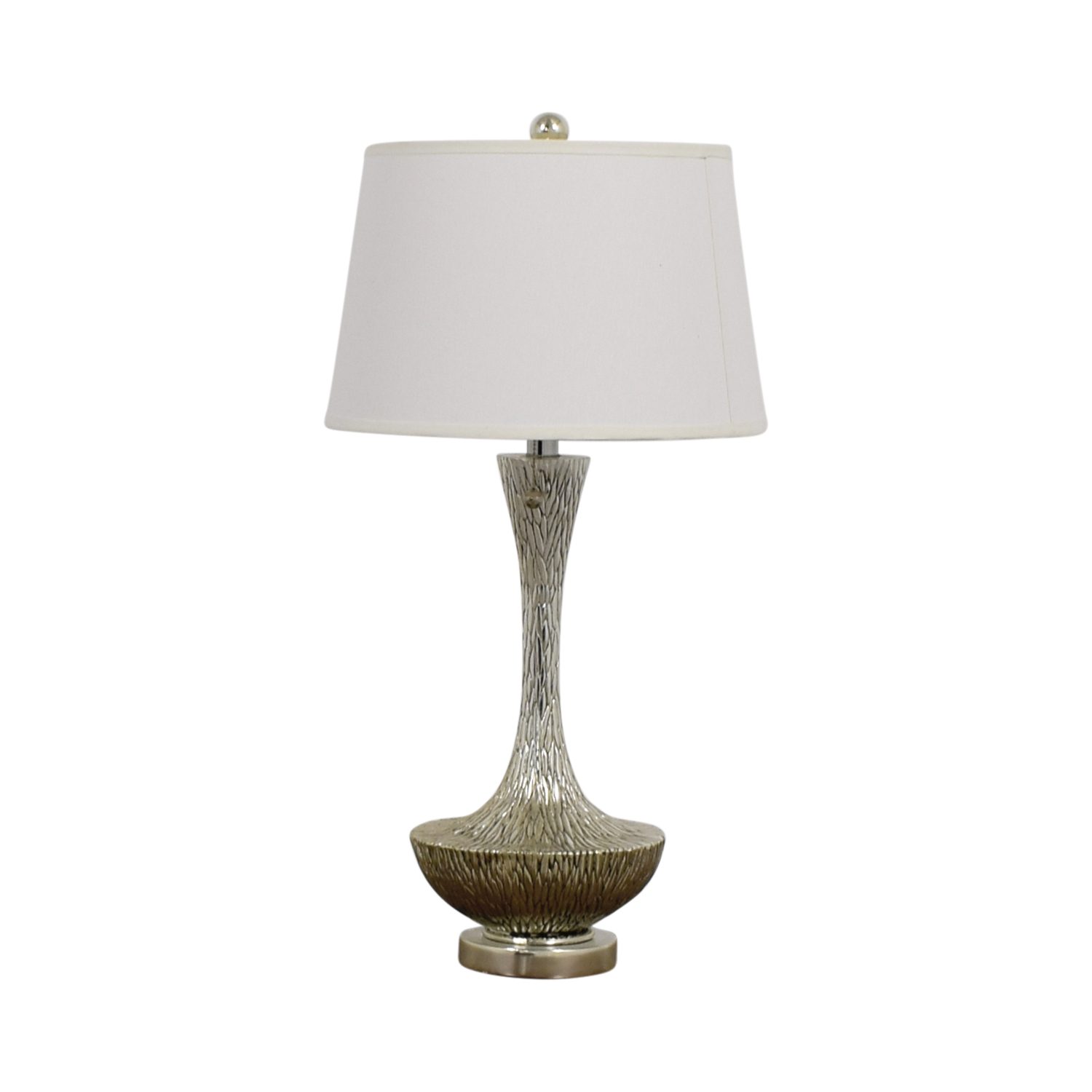 buy Embossed Silver Table Lamp  Sofas