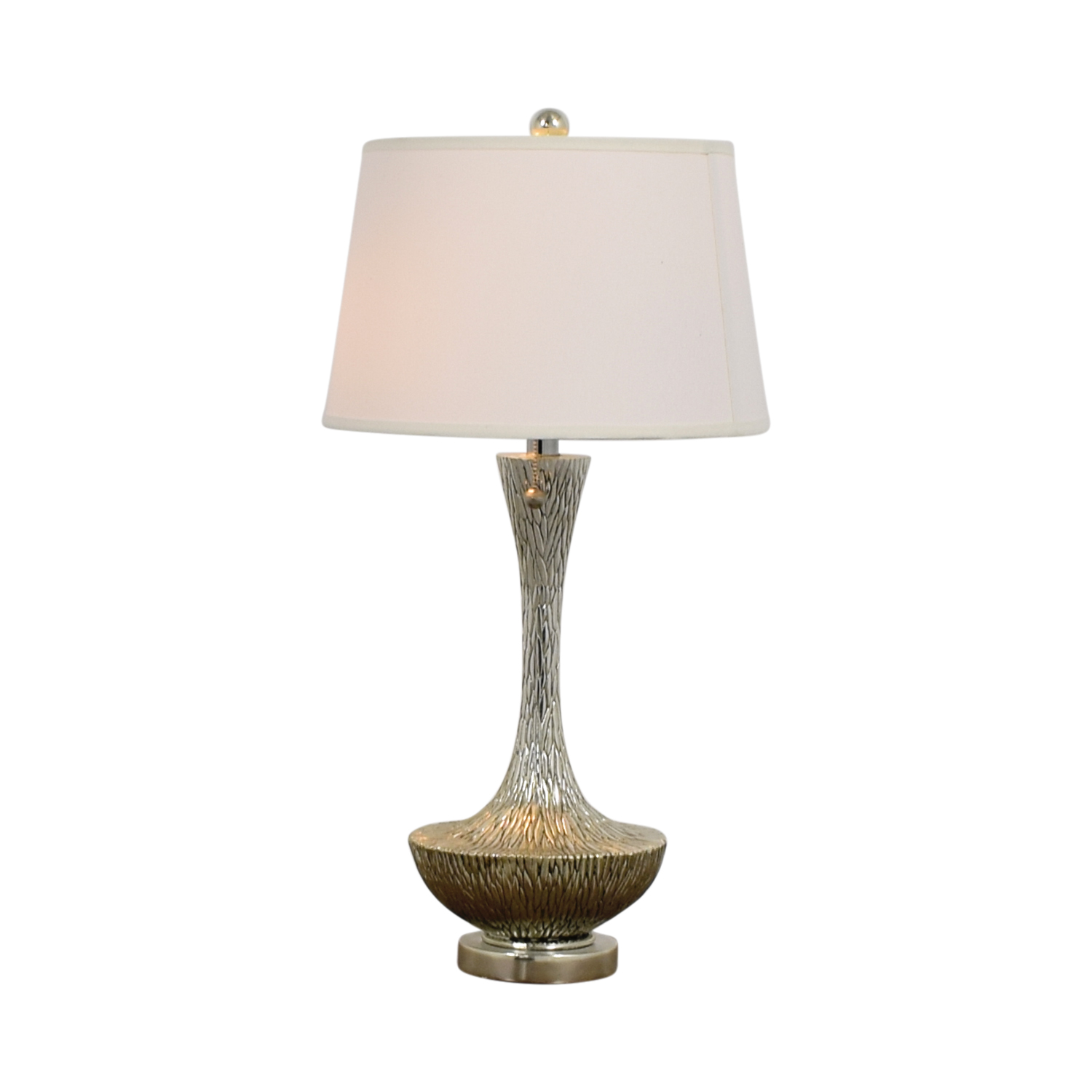 Embossed Silver Table Lamp second hand