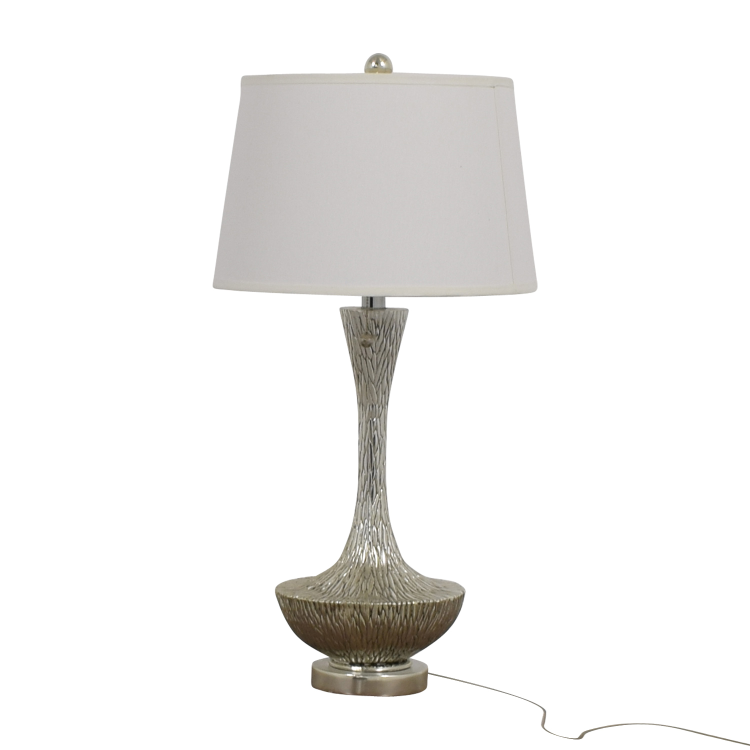 shop Embossed Silver Table Lamp Decor